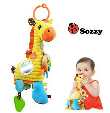 sozzy giraffe baby placate toy rattle multi-purpose pull music playtime pal 1pc