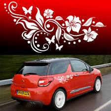 2x Butterfly Flower Vinyl Car Graphics, Stickers, Decals Butterfly Design