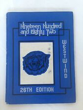 Vintage 1982 Yearbook The Westwind from Westlane Middle School, Indianapolis, IN