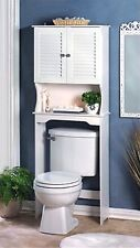 NANTUCKET BATHROOM SPACE SAVER ** Over the Toilet Cabinet & Shelf ** NIB
