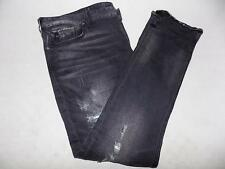 Guess Men's Black Denim Slim Tapered Jeans Size 40X31 MSRP $89