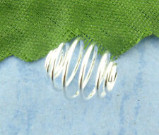 120Pcs Silver Plated  Spiral Bead Cages 8x9mm Findings