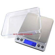 BILANCIA ELETTRONICA BILANCINO DI PRECISIONE DIGITALE LCD PESA 0.1g 500g PESO