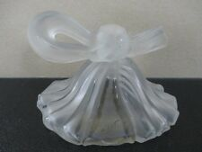 """Vintage LUCIEN LELONG """"Jabot"""" Draped Perfume Bottle with Bow Top cir. 1939"""