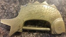 ~ Vintage Brass FIGURAL LOCK in the Shape of a FISH ~