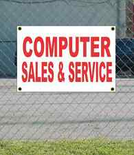 2x3 COMPUTER SALES & SERVICE Red & White Banner Sign NEW Discount Size & Price