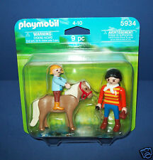 PLAYMOBIL #5934 EQUESTRIAN Riding Lessons  FIGURE set w/ pony mom daughter NIB