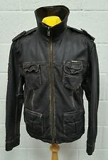Superdry Leather Super 8 Originals Extra Large Jacket