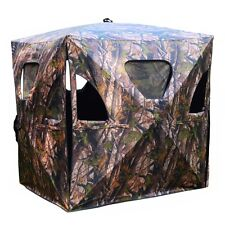 NEW 1X Deer Hunting Blind Ground Portable Pop Up Camo Hunter Weather Proof Mesh