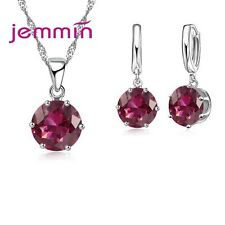 Hot Sale Jewelry Set For Women Girl Gift Cubic Zirconia Bridal Necklace Earrings