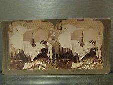 ancienne photo stereoscopique underwood strohmeyer & wyman affreux rat
