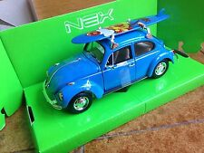WELLY NEX VOLKSWAGEN BEETLE Kafer Fusca Vocho MAGGIOLINO SURF HOLIDAY 1/24 1:24