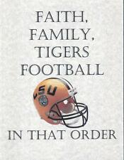 LSU TIGERS  FOOTBALL  FAN   LSU  FAITH FAMILY FOOTBALL   MAN CAVE  GIFT