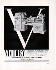 1942 SEBASTIAN LATHE CO AD- V for VICTORY