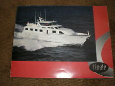 "1995 100' BROWARD COCKPIT MOTOR YACHT ""FINALE"" COLOR CHARTER BROCHURE"