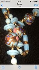vintage murano glass Venetian Wedding Cake Beads Excellent example