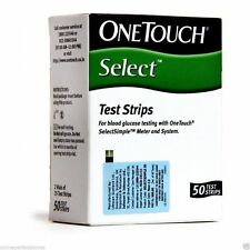 50 Test Strips for OneTouch Select Simple Glucometer, Johnson & Johnson