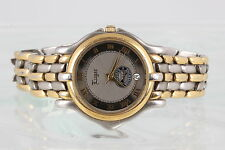 LUGER SWISS MOVT NATURE'S SUNSHINE PRISM FACE TWO TONE WRISTWATCH WORKS! 9107