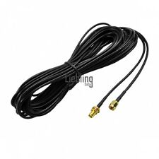 9M 9,1m Negro Antena RP-SMA Wi-Fi Router WiFi Cable Cable Alargador LEBB