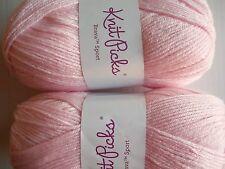 Knit Picks Brava Sport yarn, Blush (soft pink), lot of 2 (273 yds each)