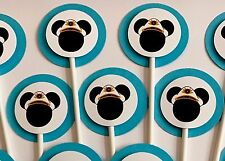 30 MICKEY MOUSE CAPTAIN Cupcake Toppers Birthday Party, Baby Shower Decoration.