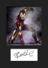 ROBERT DOWNEY JR (IRON MAN) #2 A5 Signed Mounted Photo Print - FREE DELIVERY