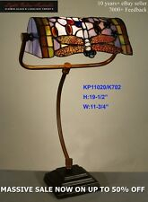 TIFFANY STYLE STAINED GLASS LEADLIGHT DRAGONFLY BANKERS DESK LAMP TABLE STUDY