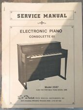 Lo Duca Service Manual Electronic Piano Consolette 61 Model 2567