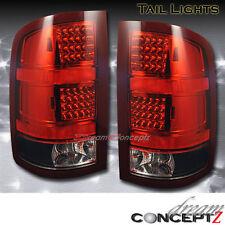 2007 2008 2009 2010 GMC SIERRA 1500 2500 LED tail lights Lamps Red Black lens