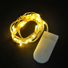 2M/20LED Cell Battery Operated Micro Wire String Fairy Light Party Xmas Wedding