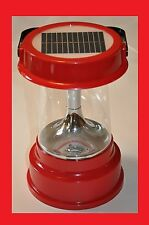 Solar Powered Rechargeable Lantern for Camping, Emergency w/ A/C Power Adapter