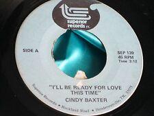 Hear Rare Funk Soul 45 : Cindy Baxter ~ I've Got Your Number ~ Superior 139