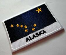 STATE OF ALASKA UNITED STATES FLAG Sew on Patch Free Shipping
