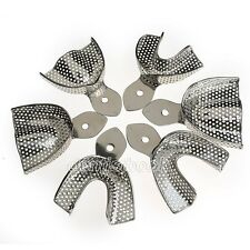 6 Pcs/set New Dental Stainless Steel Impression Trays Autoclavable Central