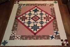 Joann Vintage Treasure 73x85 queen pink/brown quilt -**CLEARANCE**FREE SHIPPING!