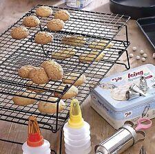 3 étages empilables de refroidissement à pâtisserie gâteau biscuit plateau espace rack saving cake stand