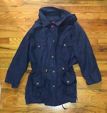 Burberry's Vintage Raincoat Jacket Removable Hood Retro Burberry M Sport Coat
