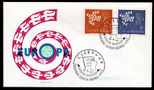 Luxemburg 647-48 FDC-Edition Thill/rot, CEPT 1961