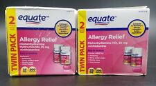 Equate Diphydramine HCI 25 mg Allergy Relief NIB OTC (2pack 400 Tablets)