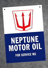 Neptune Motor Oil Metal Tin A4 Sign