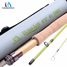 Maxcatch Fly Rod 1WT 6FT Medium-Fast (Graphite IM10) Ultra Light Fly Fishing