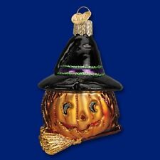 """""""Witch Pumpkin"""" (26073) Old World Christmas Glass Ornament"""