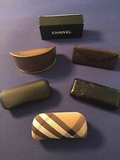 AUTH CHANEL CASE & BOX GUCCI VERSACE BURBERRY SUNGLASS CASES NEW BLACK BROWN