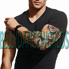 LARGE FULL ARM SLEEVE TRIBAL TEMPORARY TATTOO BODY ART MAN MEN STICKER NON TOXIC