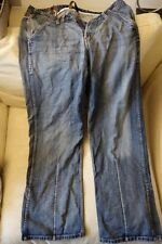 "Full Circle Mens Jeans 34"" waist, Regular, 33"" inside leg, Blue"