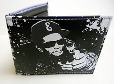 "NEW NWA Eazy E Compton ""The Godfather of Gangsta rap"" BLACK WHITE BIFOLD WALLET"