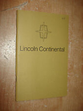 1974 LINCOLN CONTINENTAL OWNERS MANUAL ORIGINAL RARE GLOVEBOX BOOK