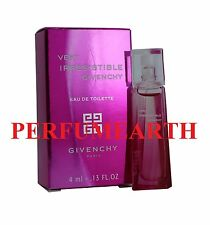 VERY IRRESISTIBLE BY GIVENCHY 013oz./4ml EDT MINI SPLASH FOR WOMEN NEW IN BOX