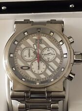 Oakley Hollow Point Titanium Watch White Face, Rare & Great Watch, Swiss Made !!