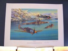 Battleship Bismarck Tirpitz Kriegsmarine Saunders Signed Aviation Art 2 Prints